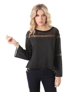 Long-Sleeved Details Blouse front