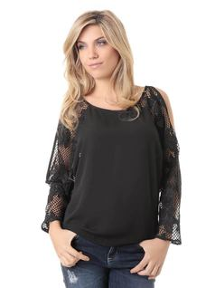 BLOUSE WITH LACE front