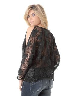 BLOUSE WITH LACE back