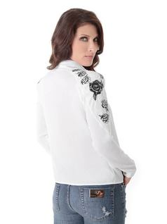 SHIRT WITH SLEEVE EMBROIDERY back