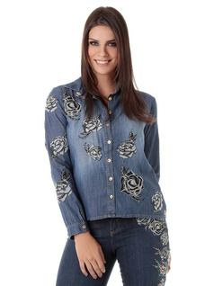 JEAN SHIRT WITH EMBROIDERY front