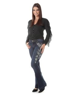 FLARE PANTS WITH EMBROIDERY front