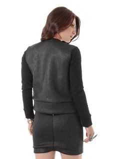 Jacket with Black Neckline and Cuffs back