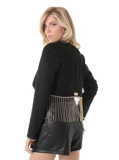 JACKET WITH CHAIN FRINGES back