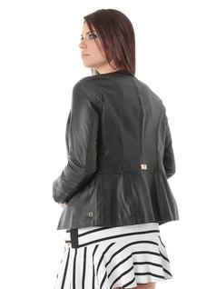 Black Leather Jacket back