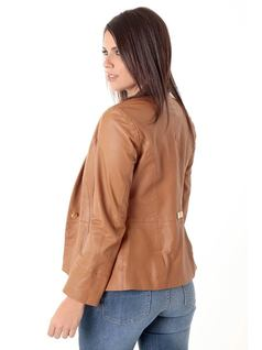 Caramel Leather Jacket back