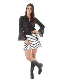 B&W Flowing Skirt front