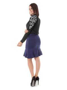 KNIT SKIRT WITH FRILLS back