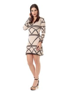 LONG-SLEEVE KNIT DRESS front