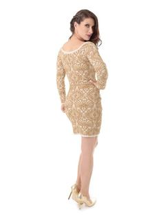 LONG-SLEEVE KNIT DRESS back